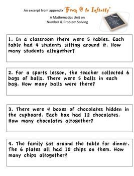 a selection of word problems to support multiplication arrays and addition to support number. Black Bedroom Furniture Sets. Home Design Ideas