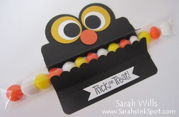 Cute Monster Candy Treat Filled With Candy Corn Mms