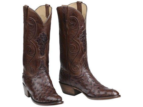 ce4fa530ec1 Randall | Men's Boots | Ostrich boots, Mens brown cowboy boots ...