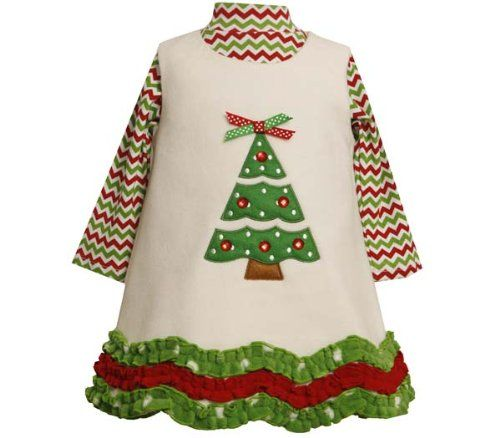 ivory fleece christmas tree dress set 12 month 5 18 months find out more about the great product at the image link