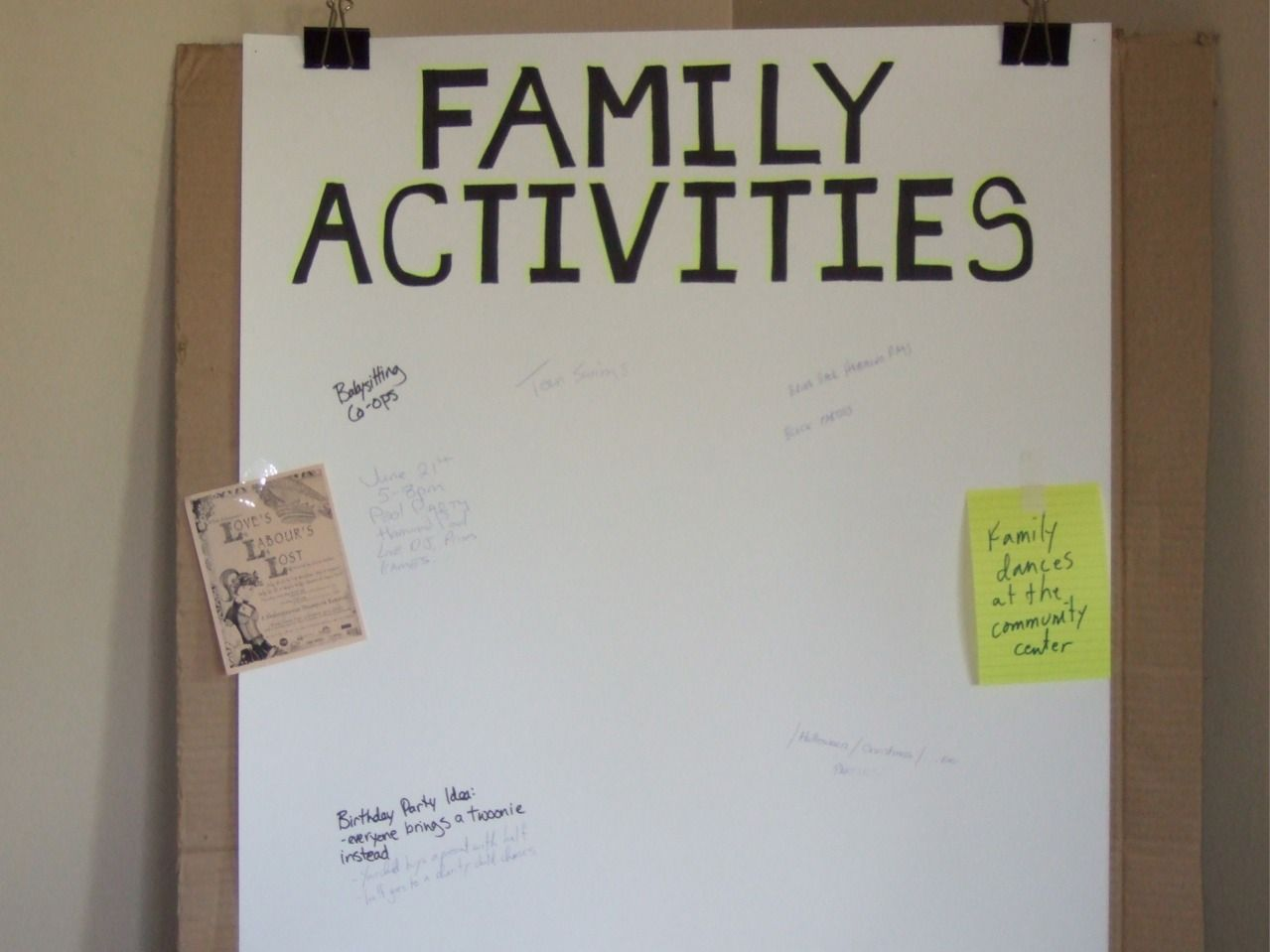 Family Activity Board Examinie This Learn More At