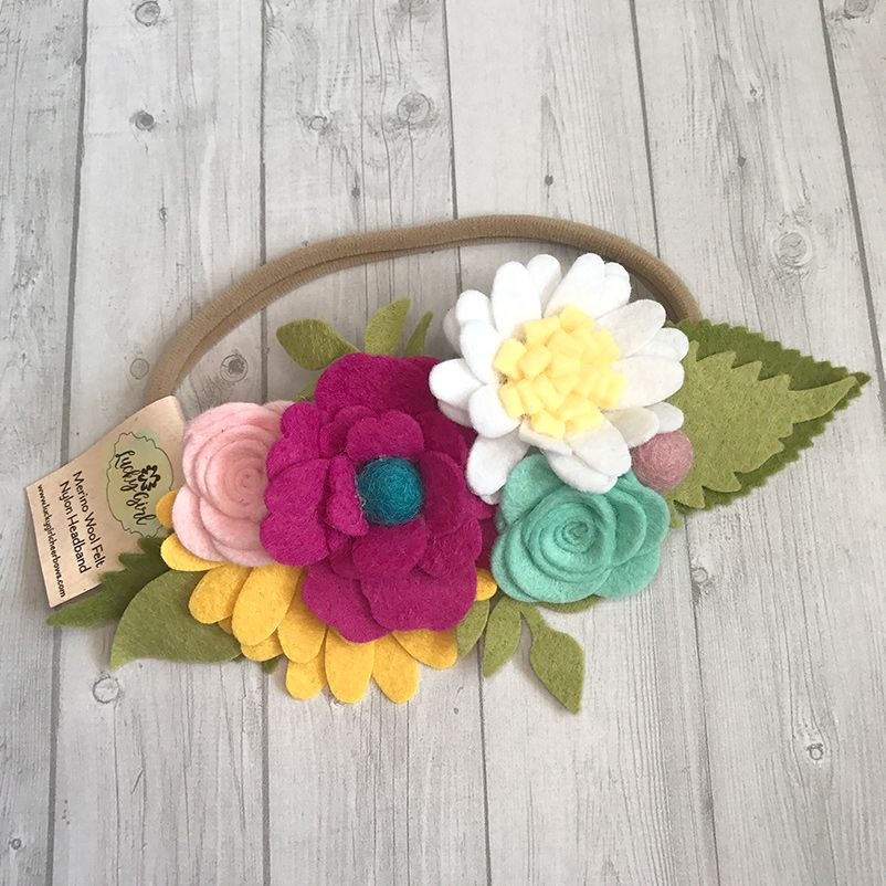 Felt Flower Headband #feltflowerheadbands
