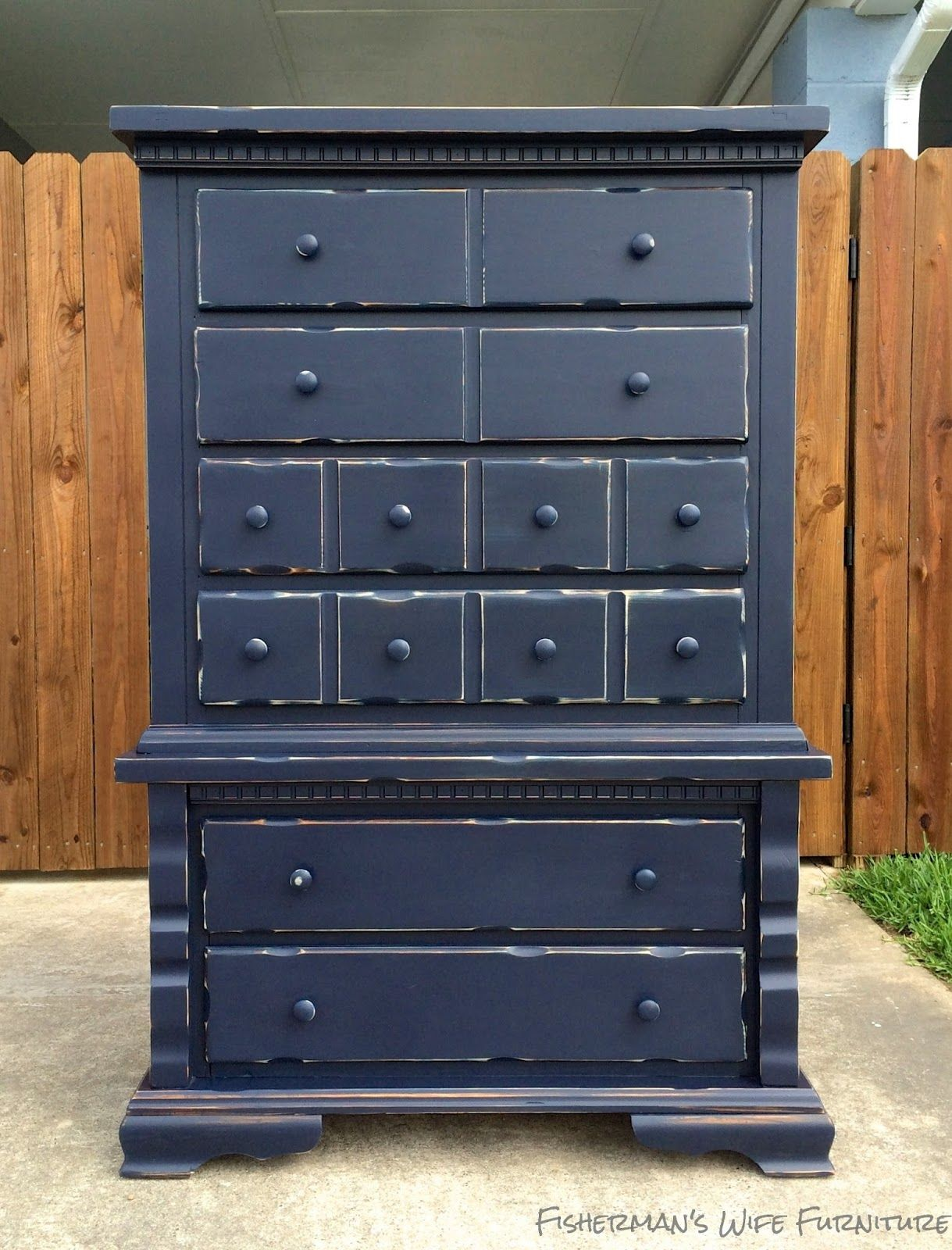 Fisherman S Wife Furniture Navy Distressed Dresser