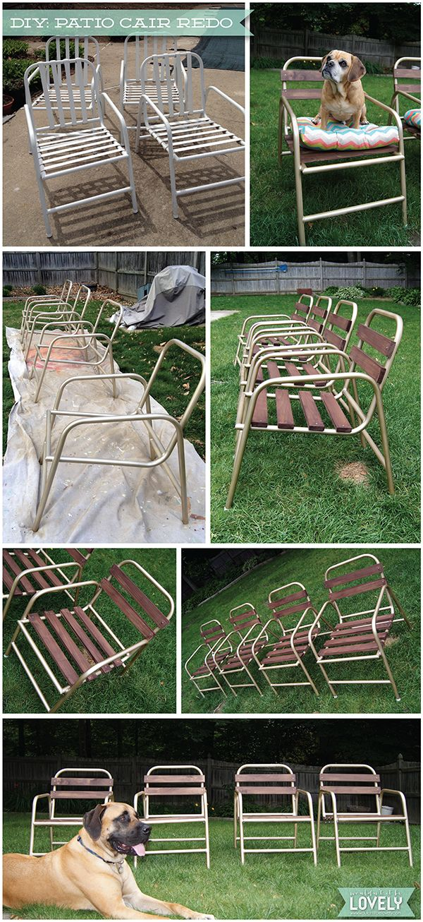 diy patio chair before after craftys patio chairs diy patio rh pinterest com redo patio furniture cushions redo old patio furniture