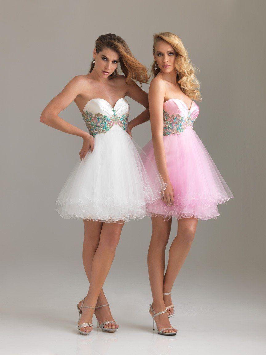 vestidos cortos en color rosa color rosa por la mañana | Inspiración ...