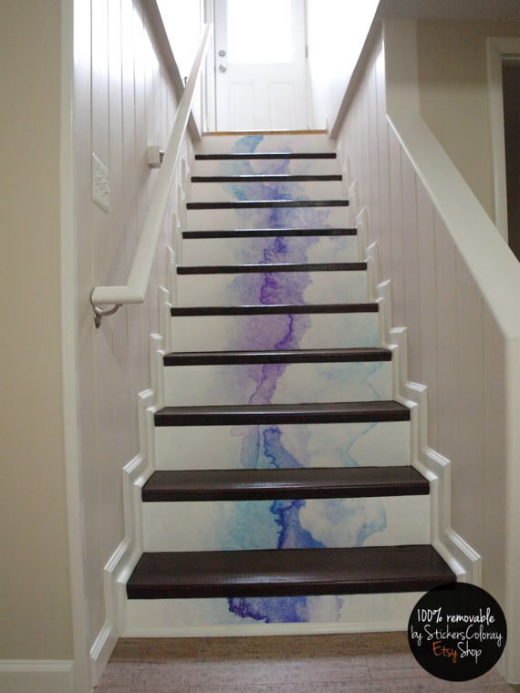 100% REMOVABLE SELF ADHESIVE DECALS FOR STAIR RISERS My Decals Are Printed  On An