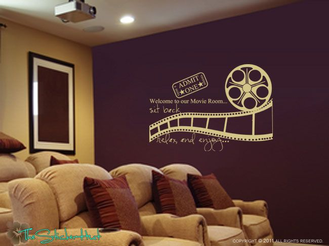 Welcome to Our Movie Room Sit Back Relax Enjoy Decal • Vinyl ...