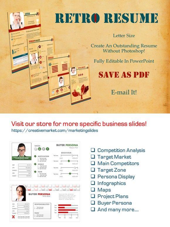Retro resume letter size pp slides presentation templates presentation layout retro resume letter size pp slides toneelgroepblik Choice Image