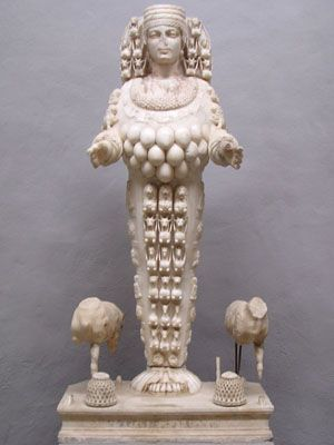 Statue of the Goddess Artemis at the Ephesus Archeological Museum
