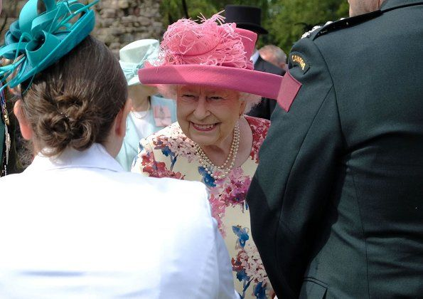 Queen Elizabeth Hosted Garden Party at Holyrood Palace is part of British garden Party - The Queen is hosting a Garden Party in the grounds of the Palace of Holyroodhouse  Scottish rugby player Doddie Weir