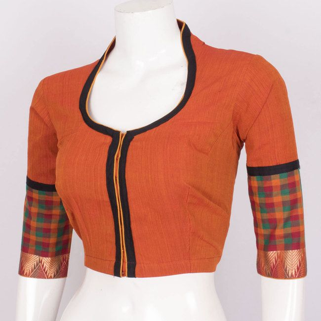24b0b11810073d Buy Online Blouses. Hand Crafted Cotton Blouse With Zari Edging