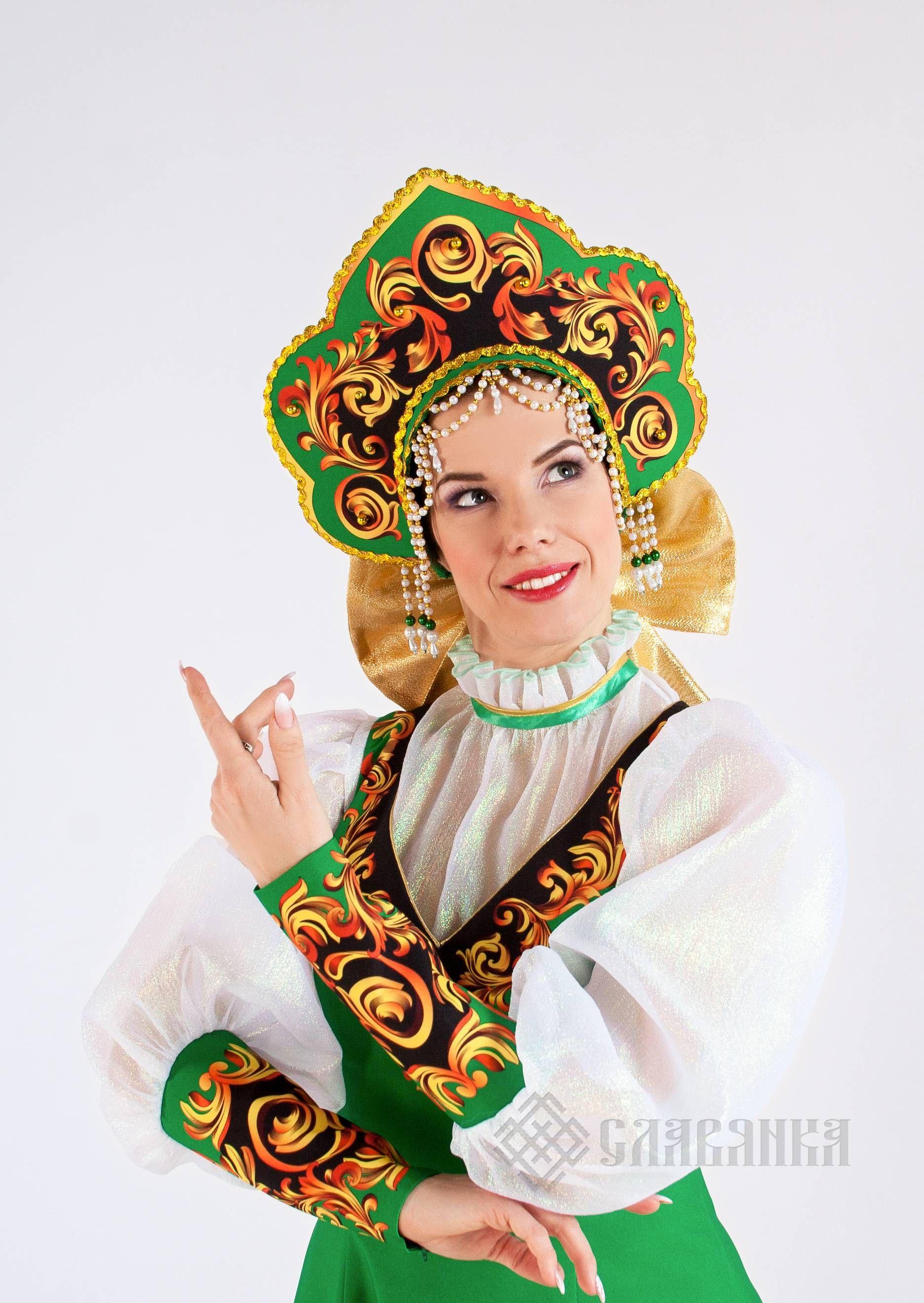 "Русский народный костюм женский ""Молодо-Зелено"". Фото N4 ..."
