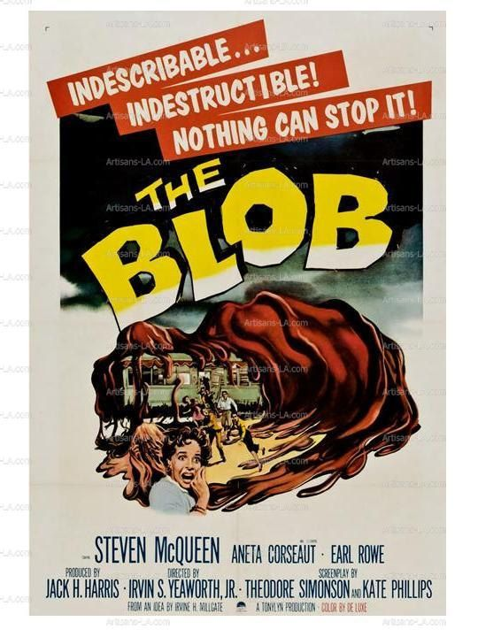 The Blob Movie Poster Print Download Classic Movie Prints By Nukes 1 00 Horror Movie Posters Classic Movie Posters Fiction Movies