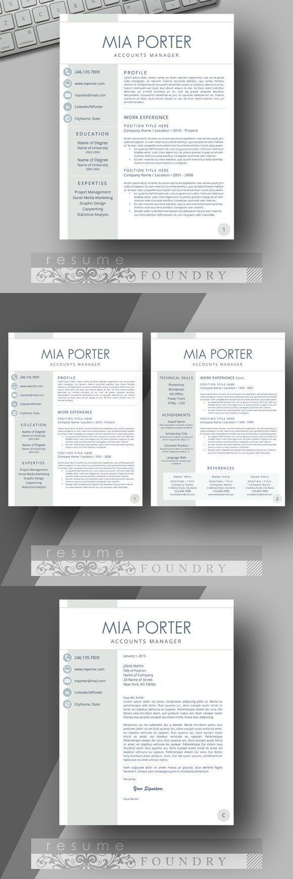 Modern Resume Template … | Resume Design | Pinterest | Currículum ...