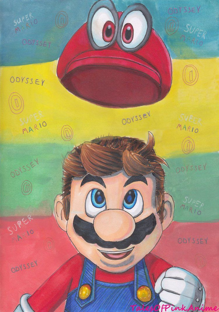 Speed Drawing: Nintendo Switch Super Mario Odyssey by