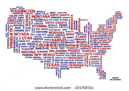 Geometric United States City Map Google Search Travel - United states cities maps