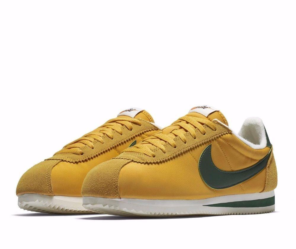 half off 97a0c 97a0d Nike Classic Cortez Nylon Premium OREGON Mens Shoes 8.5 Yellow Ochre 876873  700  Nike  RunningCrossTraining