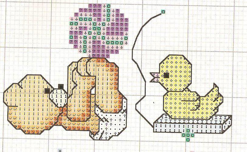 Osos en punto de cruz para bebé - Imagui | punto de cruz canastillas ...