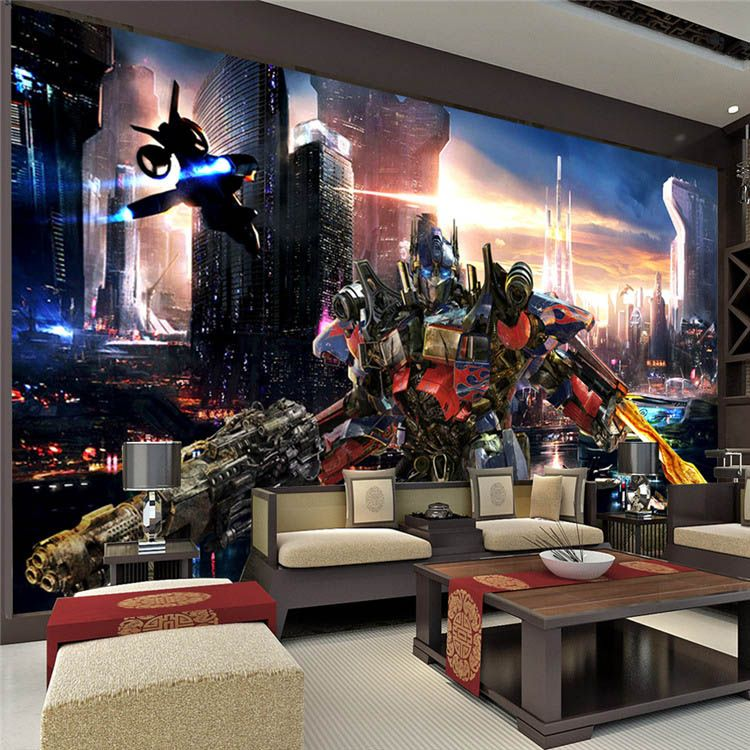 Transformers Optimus Prime Wallpaper Movies Wall Mural 3D Large wall art Room  decor Boy s room Bedroom. Transformers Optimus Prime Wallpaper Movies Wall Mural 3D Large