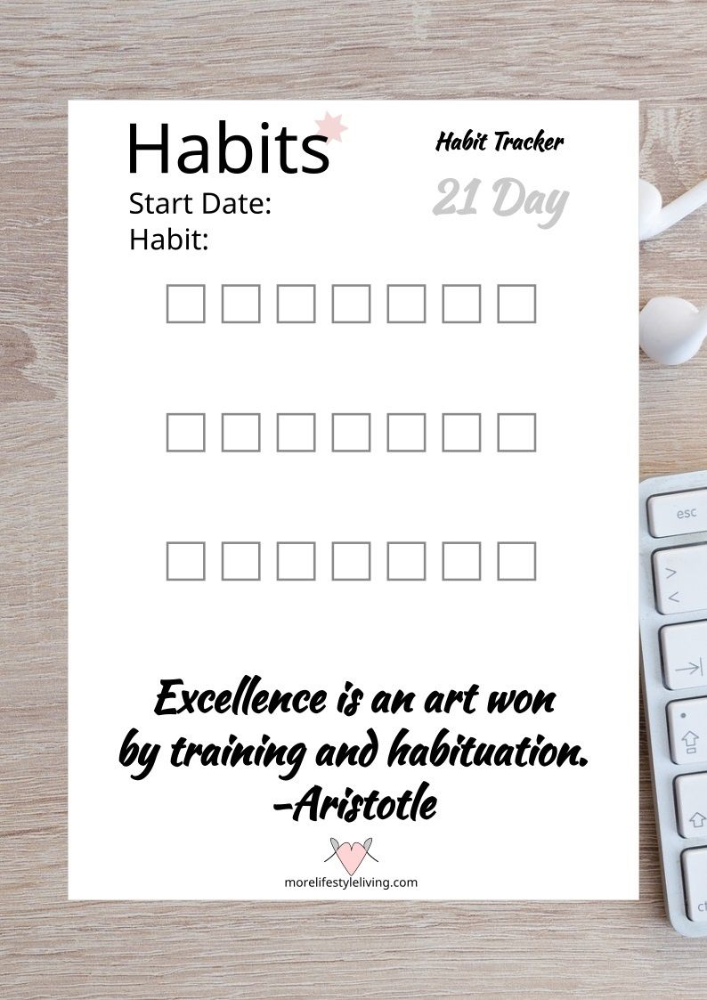 Keep track of what matters. This Goal Tracker is a FREE Printable that you can use TODAY to start reaching your goals. Track your habit of pursuing a goal that you want to achieve. Download this free habit tracker to print for your own self-development binder. #morelifestyleliving #goaltracker #smart #level10life #goals #lifestyle