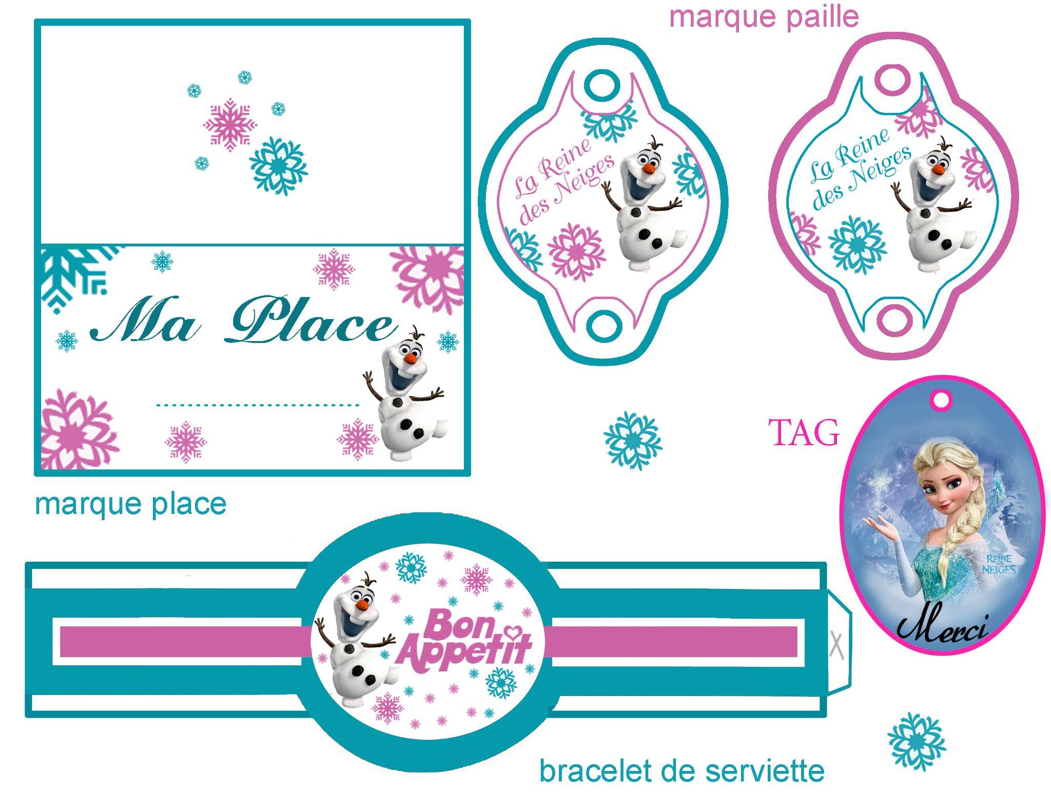 Super Marque paille et place Reine des Neiges | Anniversaire reine des  YR13