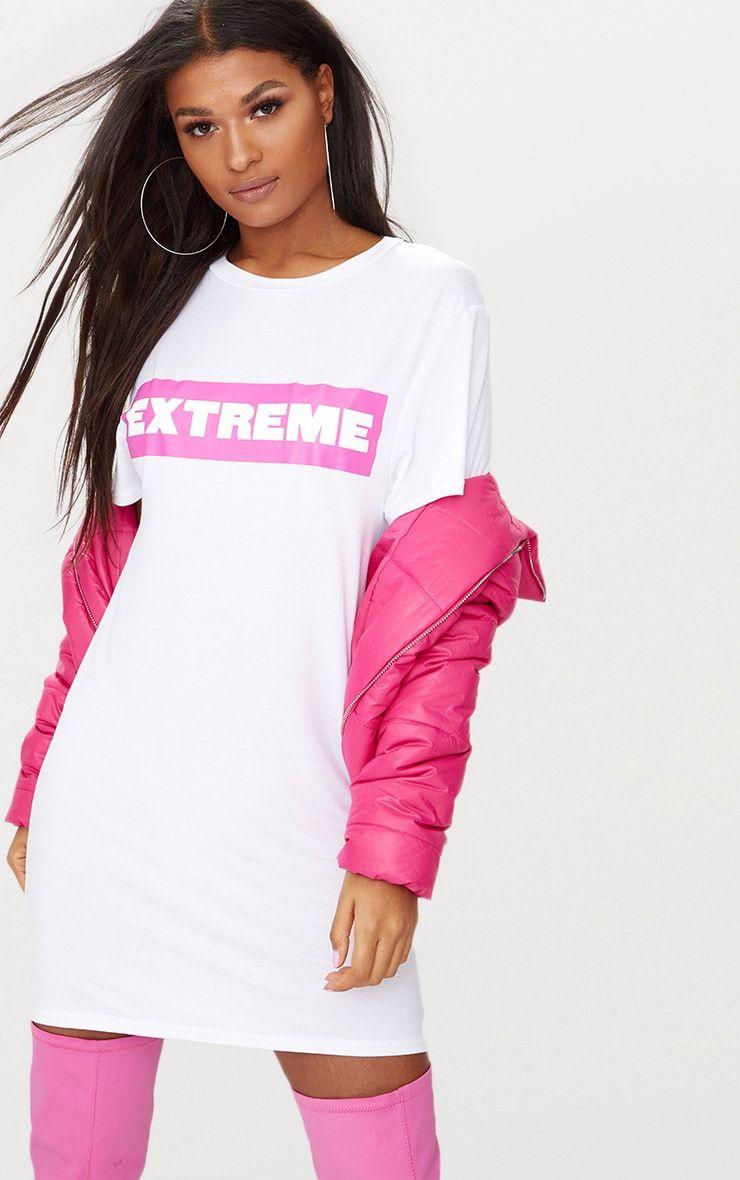 Pink dress shirt for women  Extremeu White T Shirt Dress  Slayinnn  Pinterest  Delivery and
