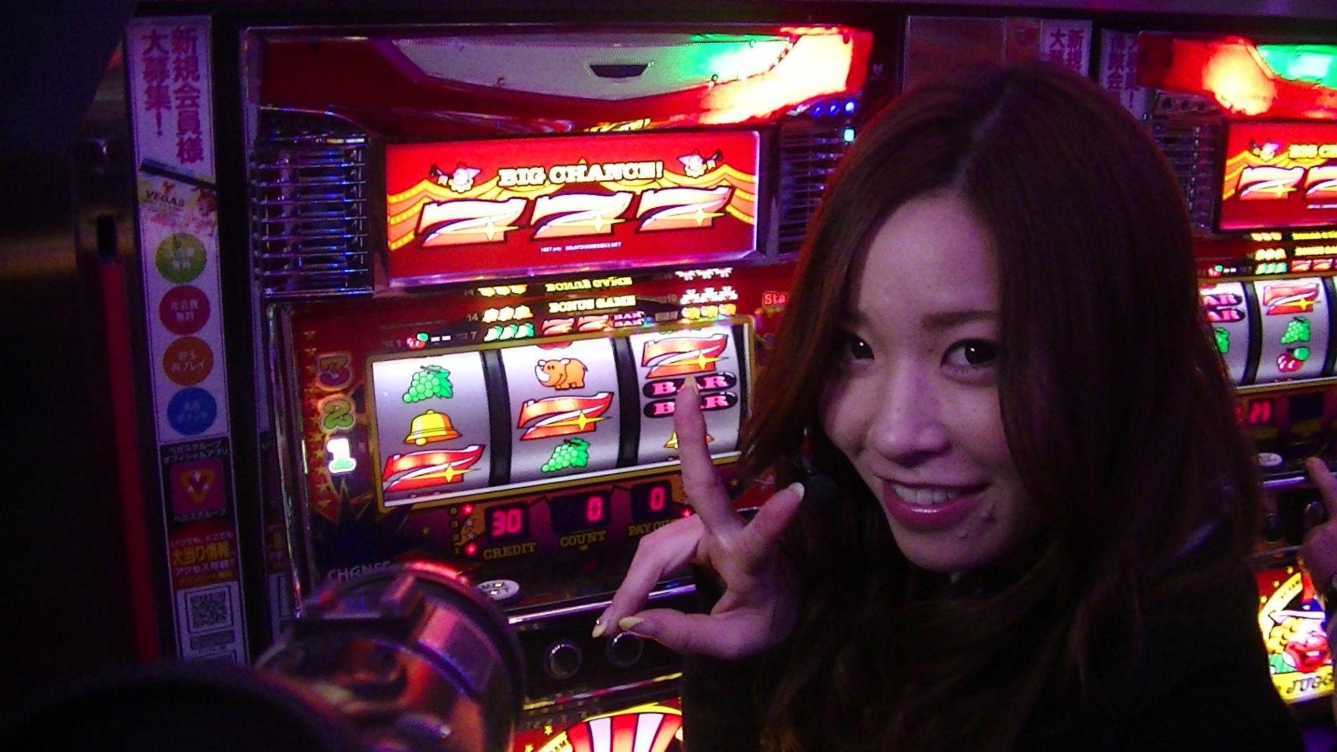GO!GO! やったねビッグボーナス!! #vegas1200 #七瀬静香 #TV ...