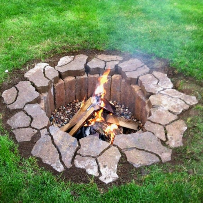 anlegen einer feuerstelle im garten – colorseven, Garten und erstellen