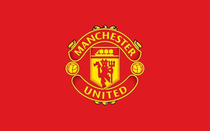 Download Wallpapers Manchester United 4k Logo Red
