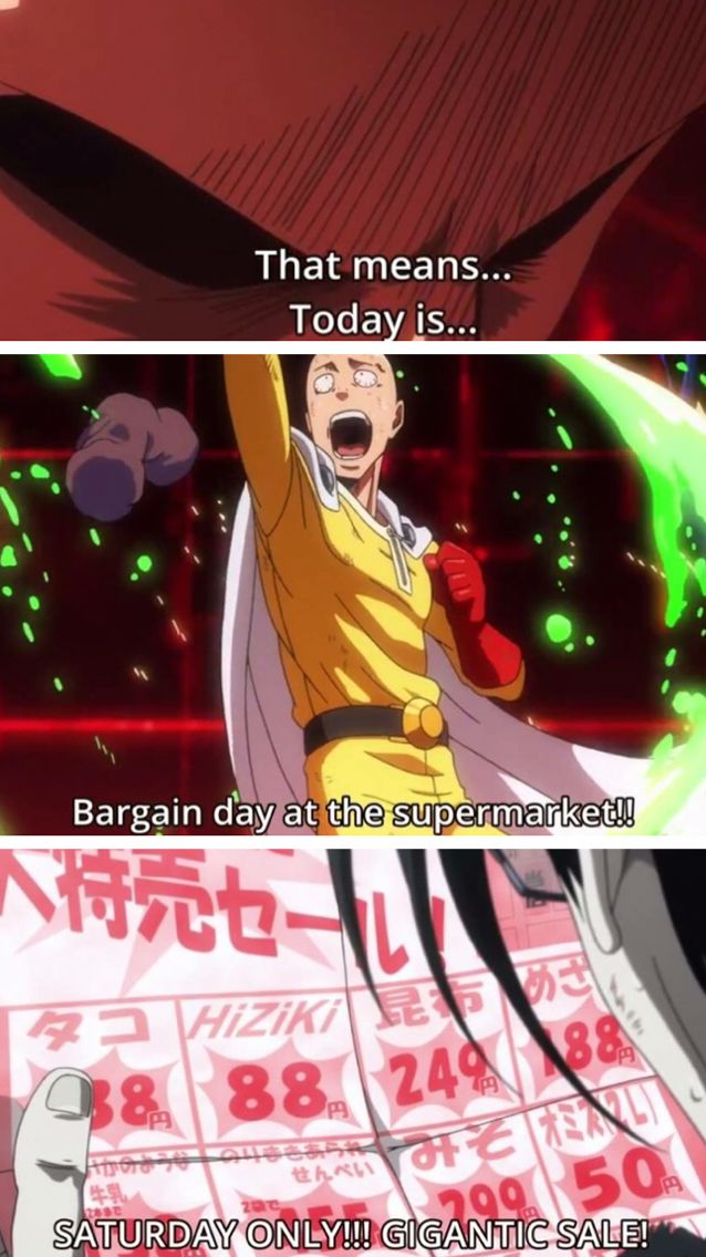 Saitama Cannot Miss The Super Sale At The Supermarket One Punch Man Episode 3 One Punch Man Funny One Punch Man Episodes One Punch Man 3