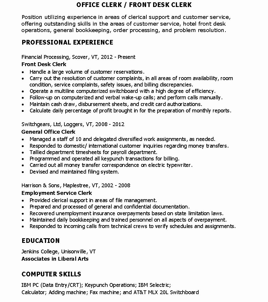 25 Hotel Front Desk Resume (With images) Good resume
