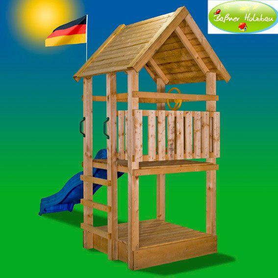 Fabulous Fichtenholz Spielturm Modell TOBY Garden