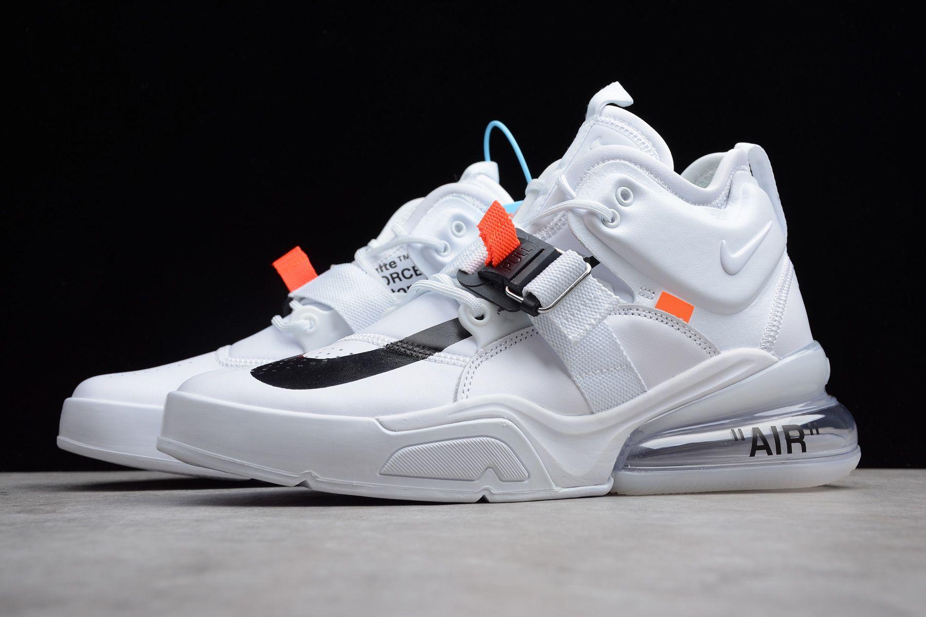 Off White X Nike Air Force 270 White Black Shoes Free Shipping Mens Nike Shoes Sneakers Men Fashion Nike Air