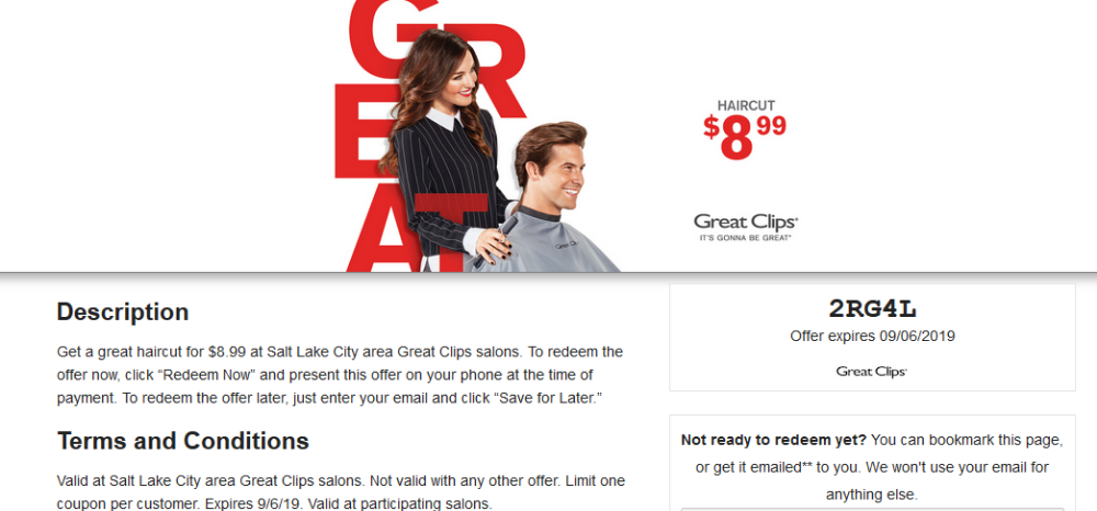 Ymmv 8 99 Great Clips Coupons Printable August 2019 Lobby 40 Coupon Great Clips Coupons Printable Coupons Haircut Coupons