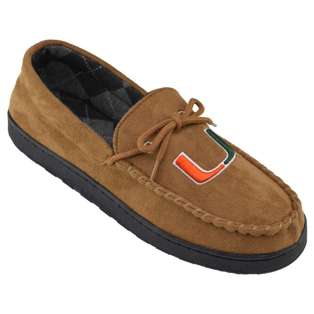 Mens Miami Hurricanes Microsuede MoccasinsdivpYou can rock these Miami