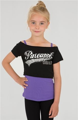5918f96b9 GIRLS DANCE DOUBLE LAYER TEE Purple and black double layer logo ...