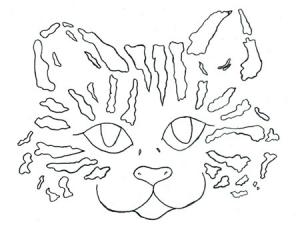 Molde - risco de gatinho