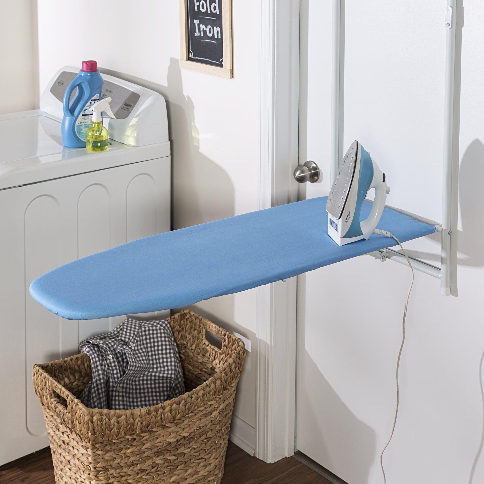 Honey Can Do Over The Door Rust Resistant Ironing Board Blue Walmart Com Door Ironing Board Hanging Ironing Board Door Hanging Ironing Board