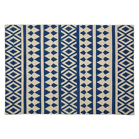 buy john lewis modasa rug indigo white online at. Black Bedroom Furniture Sets. Home Design Ideas