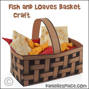Jesus Feeds The 5000 Basket Bible Craft For Childrens Ministry And Sunday School