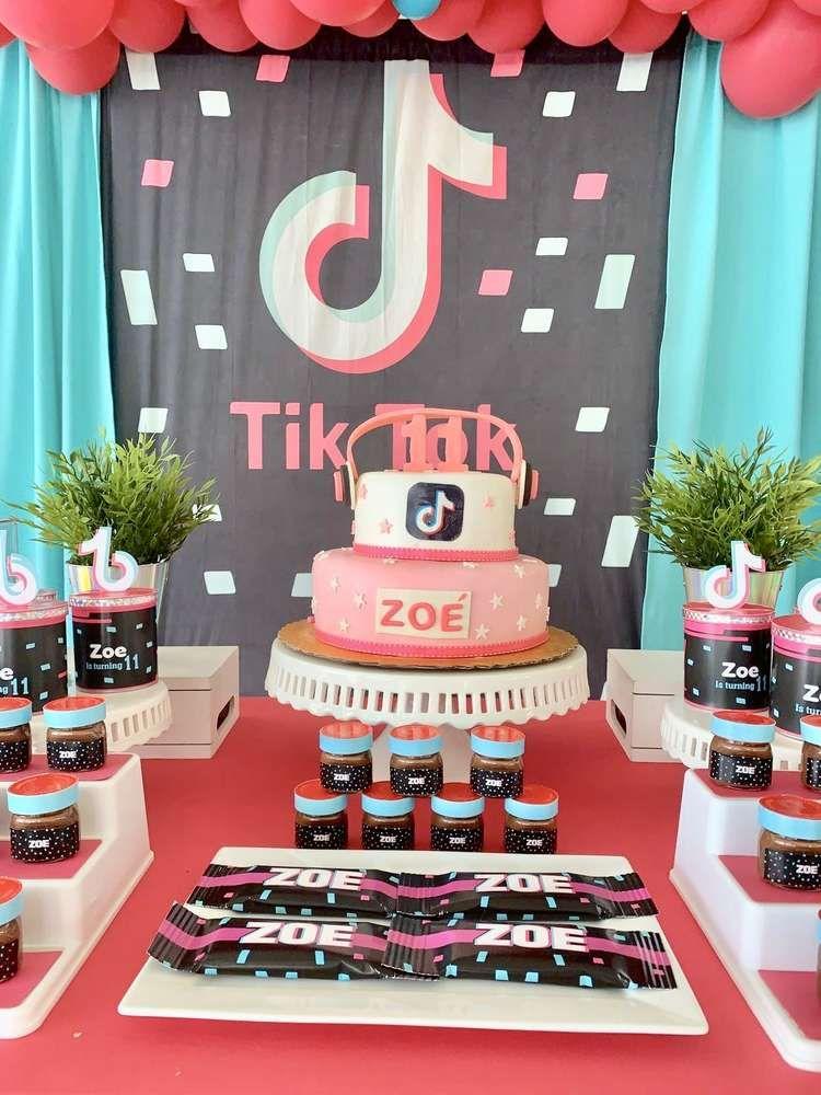 Tik Tok Birthday Party Ideas Photo 2 Of 10 Catch My Party Birthday Party For Teens Tween Birthday Party 10th Birthday Parties