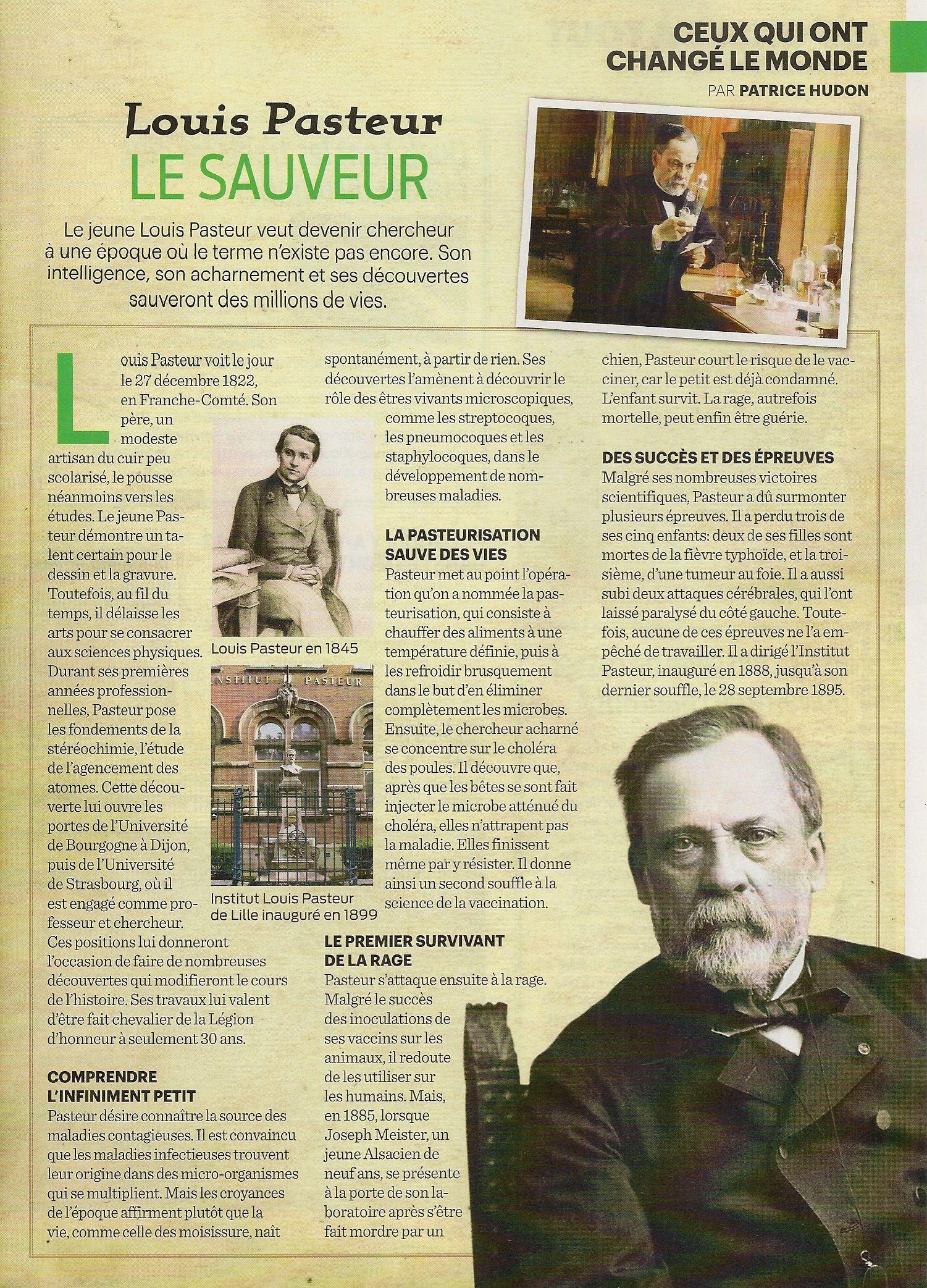 Louis Pasteur - informacja 3 - Francuski przy kawie