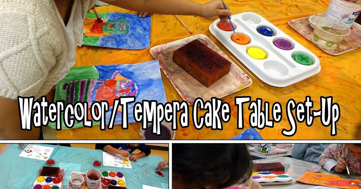 Scholartly Watercolor Tempera Cake Table Set Up Table Set Up