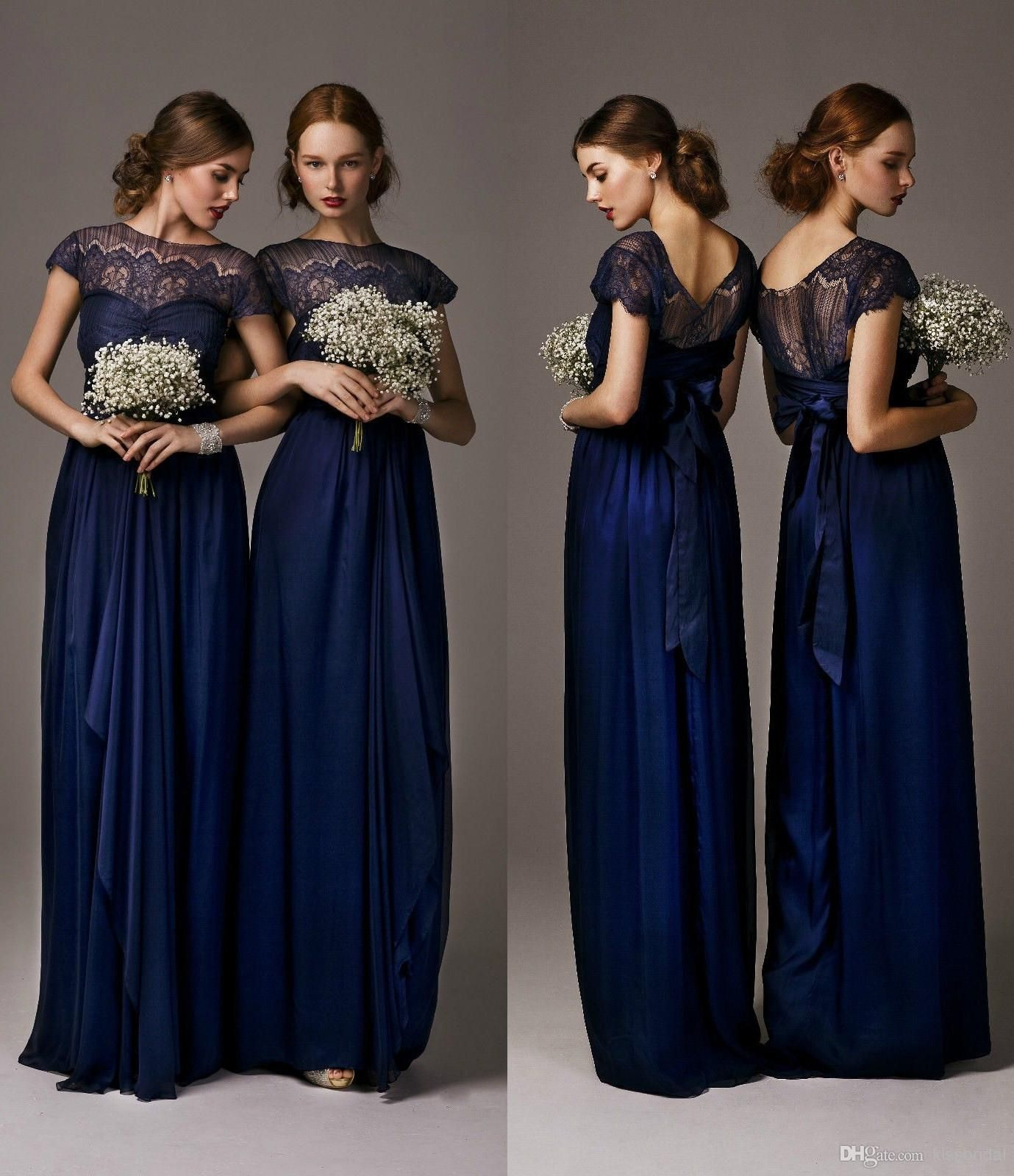 2016 vintage cheap navy blue bridesmaid dresses short sleeves wholesale 2014 bridesmaid dresses buy 2014 elegant cheap royal blue bridesmaid dresses short sleeves ruffles ombrellifo Choice Image