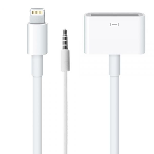 16 5cm 8 Pin Lightning To 30 Audio Data Cable For Iphone