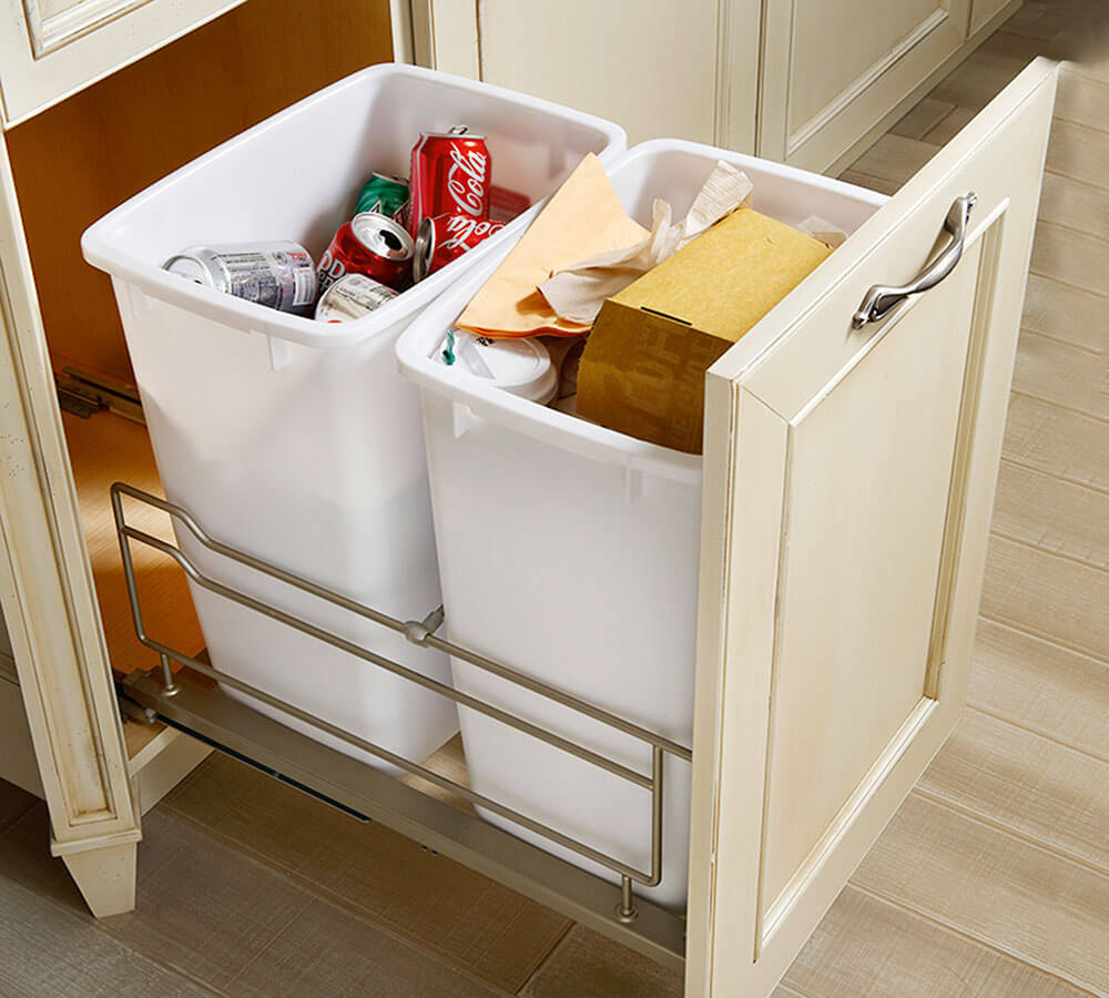 Waste Bin Pull Out For Rubbish Waste Collector Kessebohmer Wood Mode Kitchen Cabinet Storage Storage Cabinets
