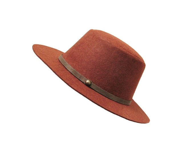 Elegant mens hat made from eco & vegan friendly polyester faux felt