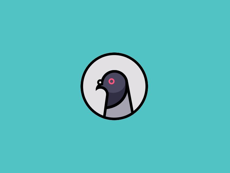 Pigeon Dog Logo Design Dog Logos Ideas Pigeon Logo