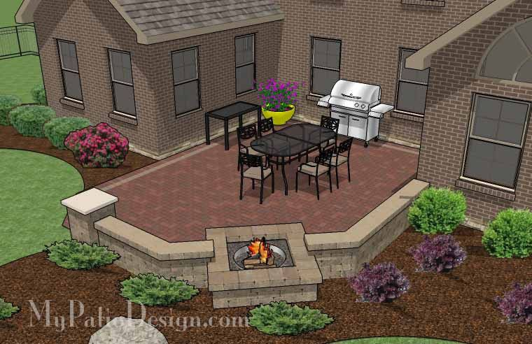Backyard Patio Brick