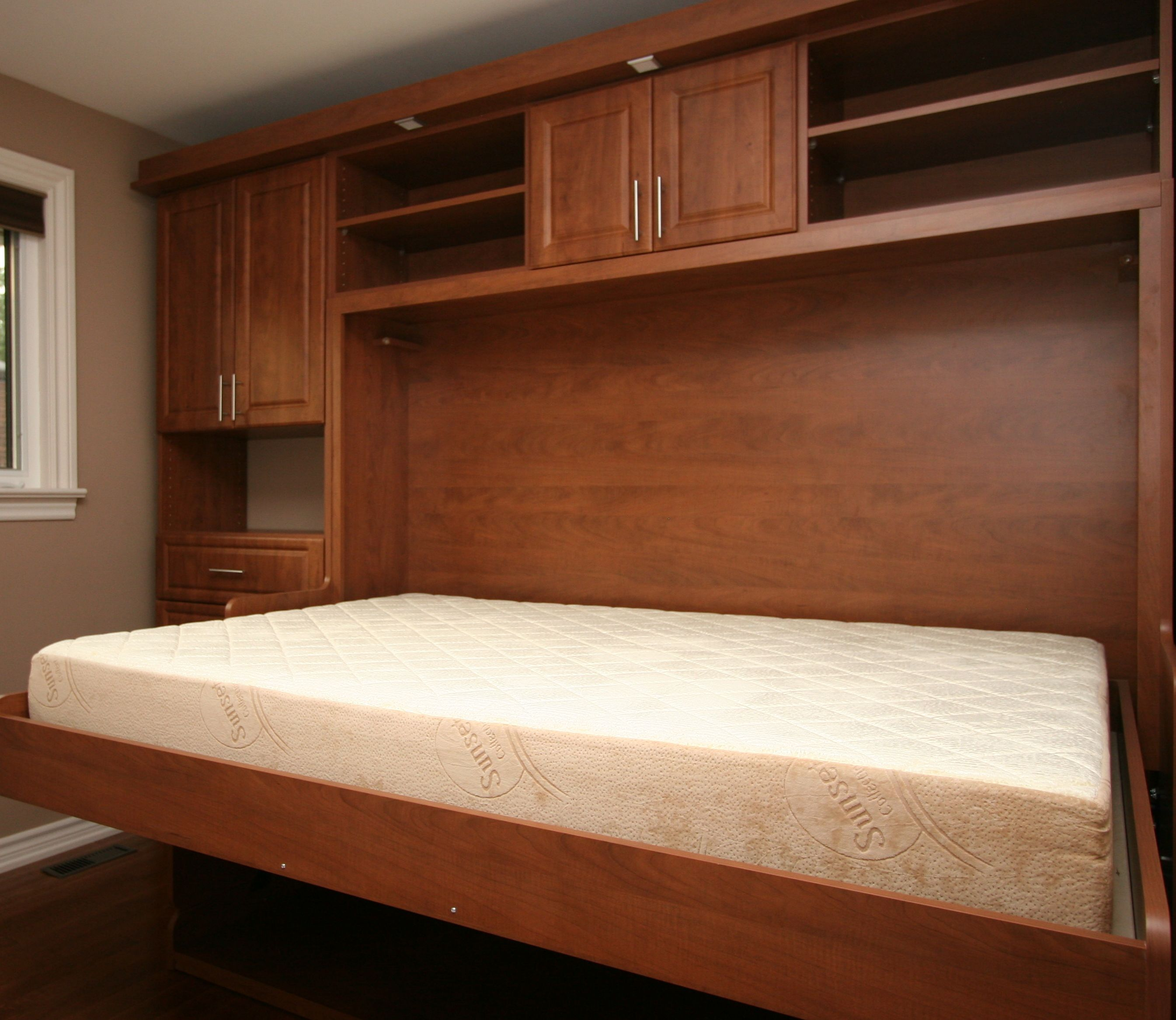 Built In Cabinet Designs Bedroom Deskdayopens Into Bed At Night And Everything Can Stay On